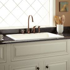 33 palazzo cast iron drop in kitchen sink