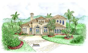 Tuscan Style House Plans  Floor Plans  Home Plans Plan   Weber    Sanibel House Plan Tuscan Style House Plans