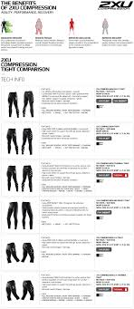 2xu Youth Compression Tights Size Chart 2xu Womens Compression Tights