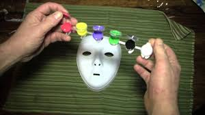 Plastic Masks To Decorate Activities Painting a Cat Mask YouTube 42