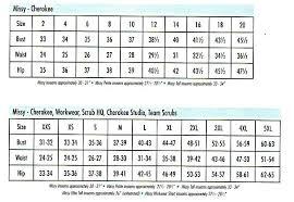 scrub size cherokee z size chart missy workwear 0 00 scrubs fashions