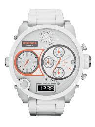 diesel watch in white for men lyst gallery