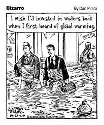 climate change economics satire humor businessman says i wish i d invested in waders back when i first heard of