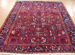 blue oriental rug 7 x 9 tribal hand knotted wool red blue intended for blue oriental