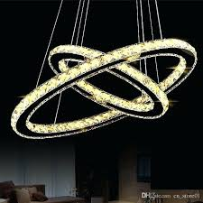 led chandeliers for modern led chandelier lights oval shape circle lamp for dining room suspension