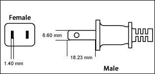 international standards reference chart non polarized nema 1 15 2 pin 10 amp