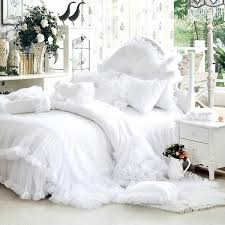 white bedding sets luxury white ruffle lace bedding set twin queen king size bedding for girl
