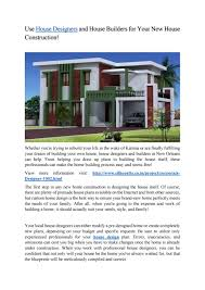 The House Designers Home Plans Use House Designers And House Builders For Your New House