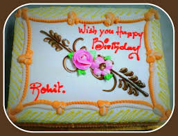 Best Birthday Cake For Brother Happy Birthday Rohit Wishes Cake