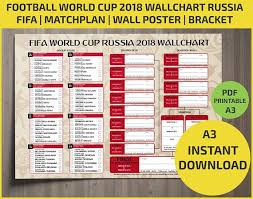 Football League Table Wall Chart Wallchart Fifa 2018 World Cup Russia Pdf Printable
