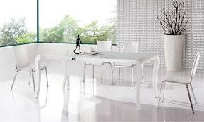white modern dining room sets. Dining Room Table, Attractive Rectangle Laminated Wood White Modern Table With 5 Chairs Designs Sets 0