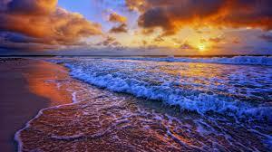 HD Wallpaper Beach Sunset, Beach Sunset ...