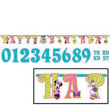 Disney Minnie Mouse 1st Birthday Illustrated Letter Banner Ebay