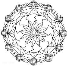 Coloring Pages Printable Mandala For Adults Free Mandalas Beginners