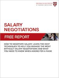 New Free Report Salary Negotiations Pon Program On