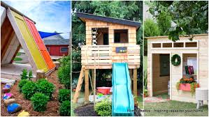 43 free diy playhouse plans that children pas alike will love best easy play house