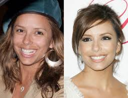 eva longoria is one of those women you love to just for the reason that she still looks gorgeous without makeup however is it just us or does she not