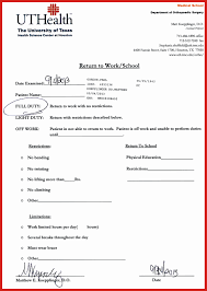 Houston Doctors Note Return To School Note Inspirational Real Doctors Excuse