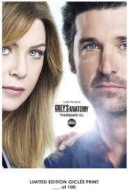 Ellen Pompeo Grey's Anatomy Patrick Dempsey TV Poster Reproduction  #'d/100!! 12
