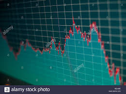 Financial Graph On A Computer Monitor Screen Background