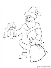 Kerstman Met Een Gift Kleurplaat Gratis Kleurplaten