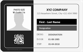 Employees Id Card Template Tinymcsmall Template