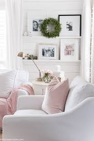 spring decor update in the living room