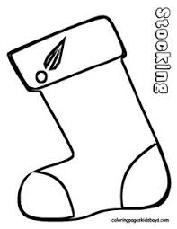 Small Picture christmas stocking coloring sheet A CRAFT CHRISTMAS COLORING
