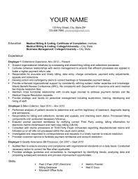 Entry Level Medical Billing And Coding Resume Resume Cover Letter Medical Billing And Coding Examples Entry Level