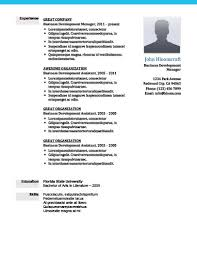 Business Resume Template Adorable Modern Resume Templates [60 Examples Free Download]