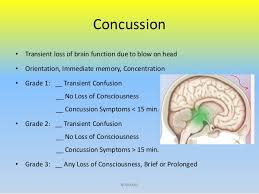 Concussion Grade Chart Head Injury Overview