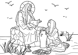 Small Picture Woman at the Well Coloring Pages