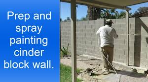 Paint Cinder Block Wall Spray Painting Cinder Block Wall Youtube