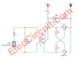 how to make simple inverter circuit diagram in 5 minutes the micro inverter schematic diagram