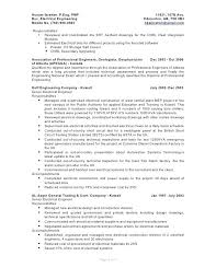 Electrical Engineer Resume Objective Examples Samples Database Cover ...
