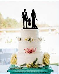 Amazoncom Family Silhouette Wedding Cake Topper With Girl Bride