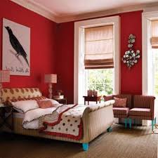bedroom Attractive Red Accents Wall Color Of Girl Bedroom Design Feat  Likeable Colibri Painting Artwork