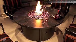 vulsini round fire pit table