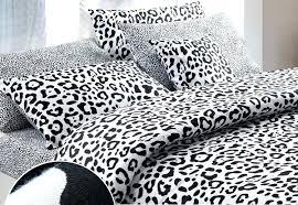 leopard print bed set black and white brief style modern y cotton comforter duvet cover bedding leopard print bed set
