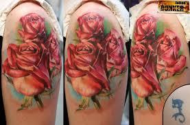 фото тату цветы в стиле реализм от мастера екатерина волкова