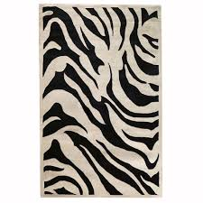 home decorators collection zebra black 5 ft x 8 ft area
