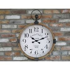rustic wooden american style wall clock