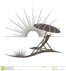 Beach chair and sunshade stock vector Illustration of icon 31602076