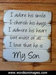 I Love My Son Quotes Fascinating I Love My Son Quotes Mommy Quotes Pinterest Son Quotes