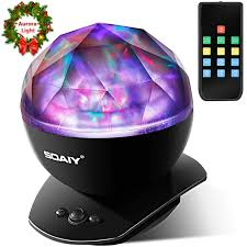 Soaiy Night Light Projector Aurora Night Light Led Aurora Projector Night Lamps With Remote 8 Mode Lighting Shows Built In Speaker And Timing Mood Relaxing Soothing Night