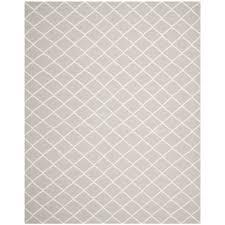 safavieh grey ivory flat weave wool area rug 8 x