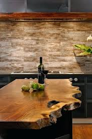 rustic countertops a beautiful raw wood edge kitchen island in an industrial kitchen makes a statement rustic concrete countertops