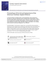 Cochlear Implant Comparison Chart 2016 Pdf Proceedings Of The Annual Symposium Of The American