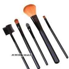 5 pcs make up brush cosmetic set kit case 01