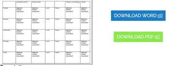 Printable Preschool Lesson Plan Template Free Templates – Pitikih
